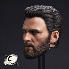 1/6 Scale ZC TOYS Captain America Chris Evans Head Carved F 12'' Doll Collection