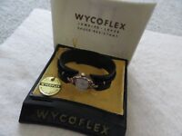 Wycoflex Mechanical Wind Up Vintage Ladies Watch with the Original Case