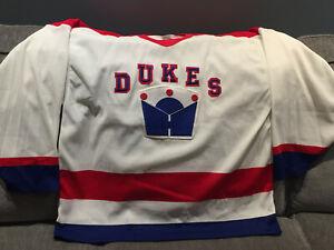 Rare Dukes of Hamilton 1989-91 CCM Maska OHL Jersey Large Bulldogs Guelph Storm