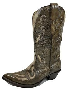 Corral Leather Western Boots Womens 8.5 M