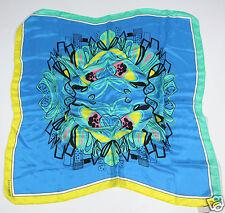 Neu Coccinelle Tuch Schal Halstuch 100% Seide 85cm x 85cm (109) 1-16 #234