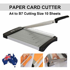 1x Stainless Steel Paper Cutter A4 To B7 Guillotine Trimmer Knife 10 Sheets Card