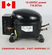 12V 24V DC Refrigeration Compressor Sikelan Fridge Freezer Marine QDZH65G R134a