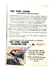1983 Washington State Salmon License Stamp