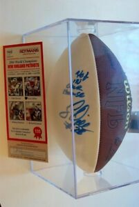 """Corey Dillon NFL Wilson Football, COA, Steiner Case, signed """"Not In Our House"""""""