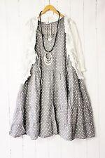 Moonshine Kleid  44 46 48 Grau  Lagenlook Pünktchen Dots Sommer Neu
