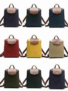NEW Auth Longchamp Le Pliage 1699 Nylon Zipper Black Backpack Bag Size L
