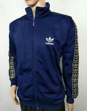 Adidas Vintage 80s Mens Track Jacket Top Blue Firebird Trefoil 42 / 44 UK XL