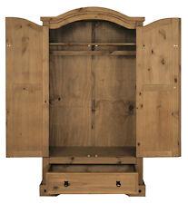 Kleiderschrank Garderobe aus Massivholz Kiefer 1 Schublade sehr Robust