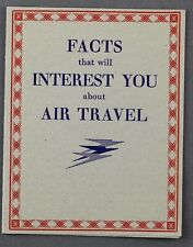 More details for imperial airways facts air travel vintage airline brochure