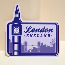 "#4633 London England UK Landmark Travel Retro Art Luggage Label 4"" Decal Sticker"
