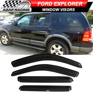 Fits 02-10 Ford Explorer 03-05 Lincoln Aviator 4Dr Acrylic Window Visors 4Pc