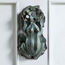 Frog And Lily Pad Flower Doorknocker Toad Door Knocker Decorative Decor