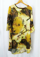 Jing Liu Womens Stitch Fix Floral Tunic Light Cover Shirt Top Sz L Large
