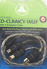 Jl Audio Xd-Clraicy-1M2F Rca Y-Adapter Twisted Cable 1 Male 2 Female Plug New