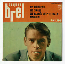 Jacques Brel Vinyl EP Les Bourgeois - Les Monkeys -madeleine -philips 432766