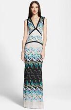 Roberto Cavalli Sleeveless Maroshi Print Gown  ( 40 IT- 4US)