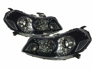 Sedici MK1 2007-2013 Hatchback 5D Projector Headlight Black V2 for Fiat LHD