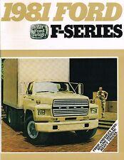 1981 Ford F-600/700/800 TRUCK Brochure / Catalog : F600,F700,F800,Dump,Box,Stake