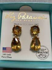 Liz Palacios Earrings Swarovski Crystals 14K Plated