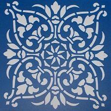 Scrapbooking - STENCILS TEMPLATES MASKS SHEET - Doily 06 Stencil  - 8 x 8 Inch