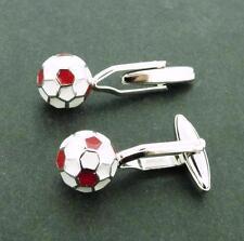 Soccer Ball Cufflinks Red & White Ball