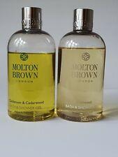 Used - MOLTON BROWN Grapeseed and Cardamom & Cedarwood Bath Shower Gel 2x300ml