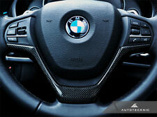 AUTOTECKNIC CARBON FIBER STEERING WHEEL TRIM - BMW F15 X5 F16 X6 XDRIVE 35I 50I
