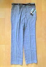 Nos w/Tag Vtg 80s New Wave Speckled Blue Flat Front Dress Pants Skinny Belt 36W
