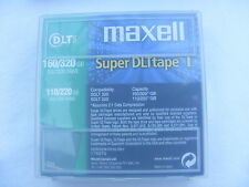 NEW SEALED JOB LOT OF x3 MAXELL 174074 SUPER DLT1 TAPE 110/220/  160/320GB