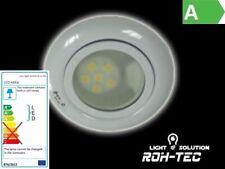 Led Einbauleuchte in weiß + G4 6 SMD 12V 60Lm warm-weiß inkl. Trafo