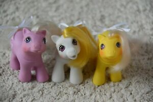 G1 My Little Pony Lot-Lickety Split, Baby Cuddles, & Peek-A-Boo Snippy