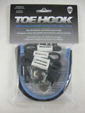 Revolutionary Toe Hook system for goalie pads to hook up skates with pads