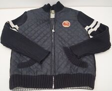 TIMBERLAND Boys Navy Quilted & Black Ribbed Sleeve Collar & Hem Jacket Age:10