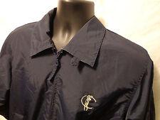 Men's MUNSINGWEAR Golf Blue Full Zip Jacket Windbreaker Pockets Size Small