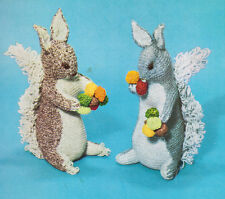 Vintage Brown & Grey Squirrel Toy Knitting Pattern