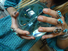 USA FAST 2-5 DAY DELIVERY! * HUGE 100% CLEAR * REAL QUARTZ CRYSTAL BALL 110MM