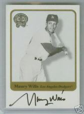 2001 FLEER GREATS OF THE GAME AUTO MAURY WILLS