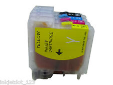 4 Pack Refillable ink cartridge for Brother LC61 DCP-165C DCP-375CW DCP-385CW