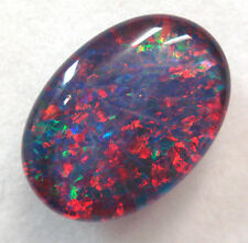 14x10x4mmLoose Stone Natural Black Triplet Opal Stone For Ring Pendant Bracelet