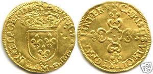 HENRI III ECU D'OR AU SOLEIL 1586 M TOULOUSE 4,500 Ex !