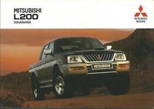 MITSUBISHI L200 3 Instruktionsbok 2002 Handbuch  L 200  BA