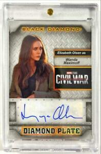 2021 Marvel Black Diamond Elizabeth Olsen Diamond Plate Autograph #DP-EO