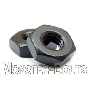 Hex Machine Screw Nuts Steel w/ Black Oxide - 2-56 4-40 6-32 8-32 10-24 10-32