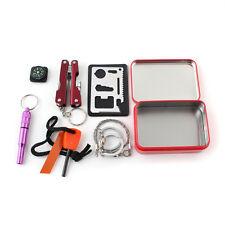 6pcs Set Herramienta Caja de Supervivencia Emergencia Kit Survival Tool Camping
