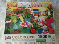 Colorluxe Puzzle 1500 Gardening Time