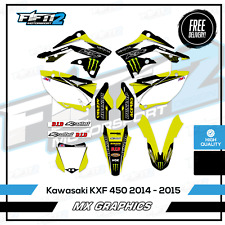 Kawasaki KXF450 2014 - 2015 Full Motocross Graphics Kit Decals MX  KX F