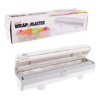 100% Genuine! WRAPMASTER Kitchen Plastic Wrap Dispenser Store and Cut!
