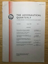 The Aeronautical Quarterly (Royal Aeronautical Society Journal) RARE Aug 1976