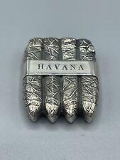 More details for vintage hallmarked solid sterling silver novelty cigar vesta case